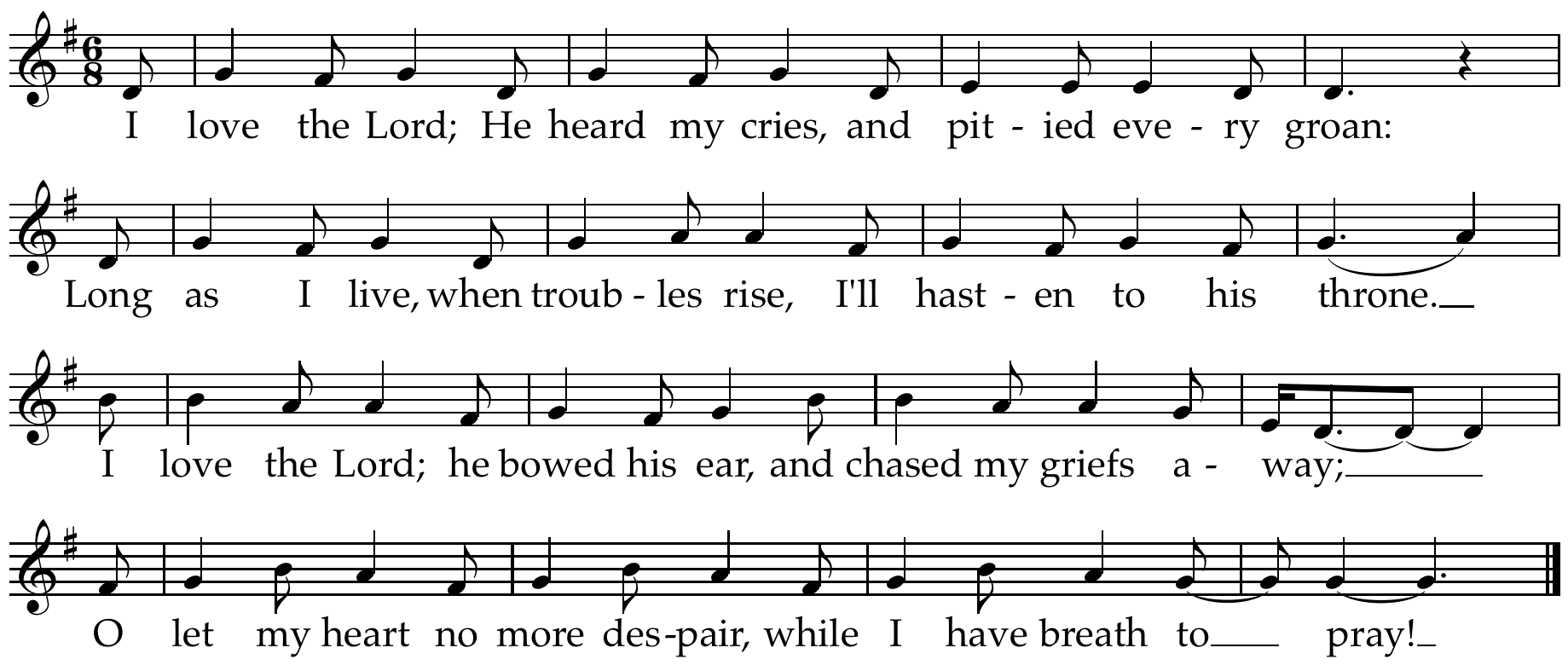 I Love the Lord Lead Sheet